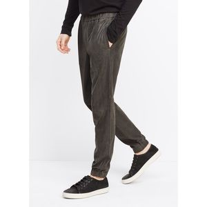 Vince Leather Joggers in Medium